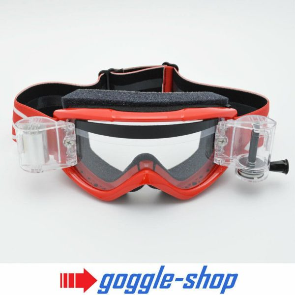 SMITH FUEL V1 MOTOCROSS MX GOGGLES with GOGGLE-SHOP ROLL-OFF SYSTEM - RED
