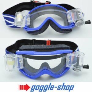 SMITH FUEL V1 MOTOCROSS MX GOGGLES with GOGGLE-SHOP ROLL-OFF SYSTEM - BLUE