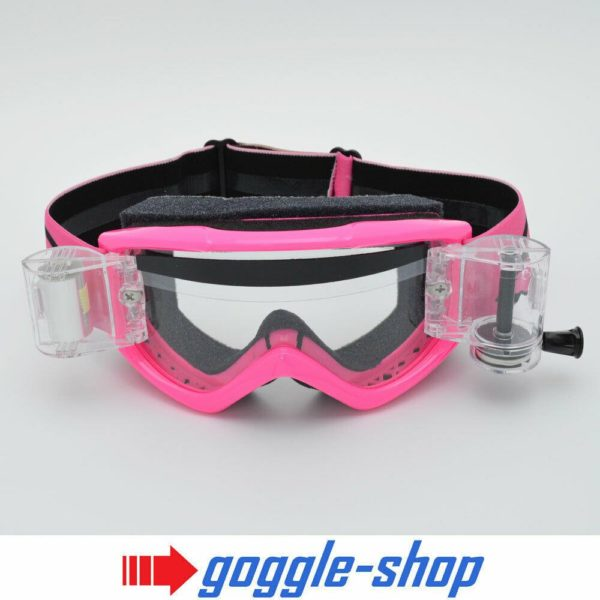 SMITH FUEL V1 MOTOCROSS MX GOGGLES with GOGGLE-SHOP ROLL-OFF SYSTEM - PINK