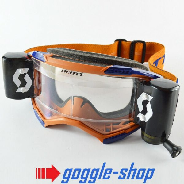 2020 SCOTT FURY WFS ROLL-OFF MOTOCROSS MX ENDURO GOGGLES - GREY / ORANGE
