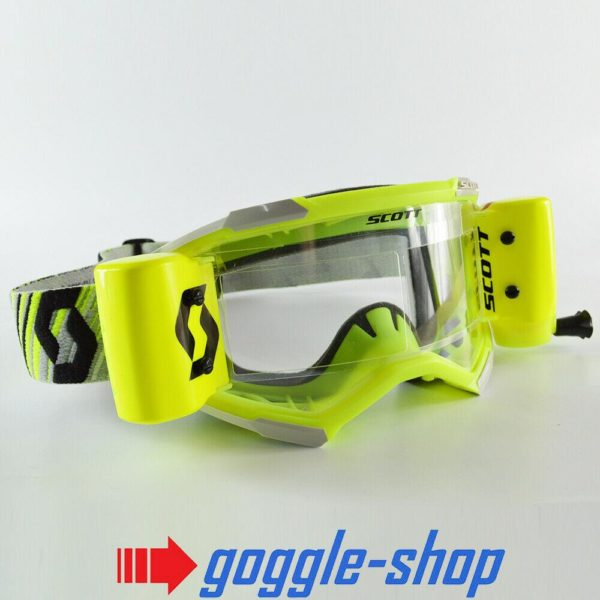 2020 SCOTT FURY WFS ROLL-OFF MOTOCROSS MX ENDURO GOGGLES - GREY / YELLOW