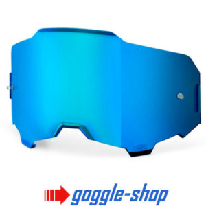 GENUINE 100% ARMEGA MOTOCROSS MTB GOGGLES HD LENS - BLUE MIRROR