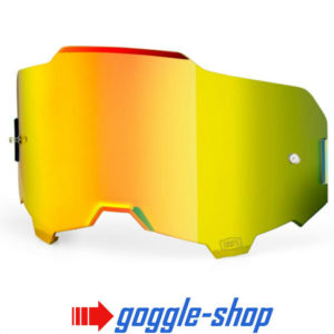 GENUINE 100% ARMEGA MOTOCROSS MTB GOGGLES HD LENS - GOLD MIRROR