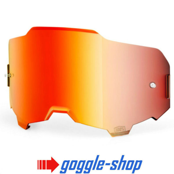 GENUINE 100% ARMEGA MOTOCROSS MTB GOGGLES HD LENS - RED MIRROR