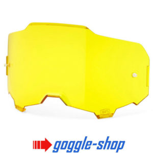 GENUINE 100% ARMEGA MOTOCROSS MTB GOGGLES HD LENS - YELLOW TINT