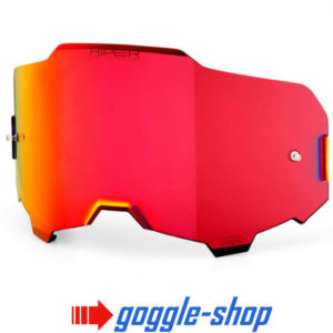 GENUINE 100% ARMEGA MOTOCROSS MTB GOGGLES HiPER LENS - RED MIRROR