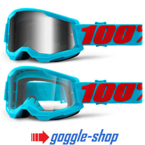 100% STRATA 2.0 MOTOCROSS MX GOGGLES – SUMMIT