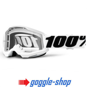 100% STRATA 2.0 MOTOCROSS MX GOGGLES – WHITE EVEREST