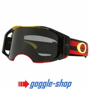 OAKLEY AIRBRAKE MOTOCROSS MX ENDURO BIKE GOGGLES – FREQUENCY RED YELLOW SMOKE