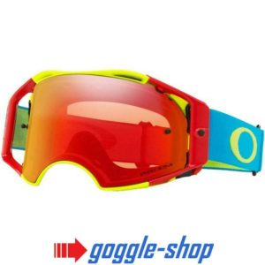 OAKLEY AIRBRAKE MOTOCROSS MX ENDURO BIKE GOGGLES – FLO RED GREEN BLUE TORCH LENS