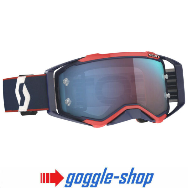 SCOTT PROSPECT MOTOCROSS MX GOGGLES RETRO BLUE / RED / BLUE CHROME LENS