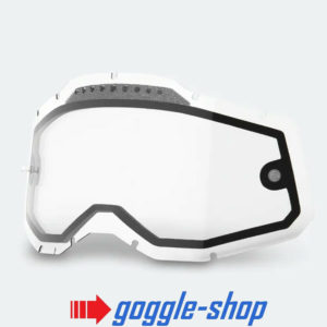 100% MOTOCROSS ENDURO GOGGLE GENUINE DUAL VENTED CLEAR LENS